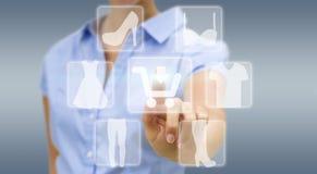 Woman shopping online Stock Photo