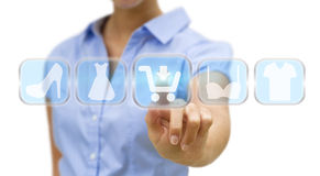 Woman shopping online Royalty Free Stock Images
