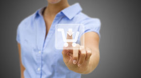 Woman shopping online Royalty Free Stock Image