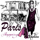 Woman shopping in Paris Royalty Free Stock Photography