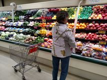 Woman shopping for produce Royalty Free Stock Photo