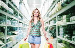 Woman at shopping Stock Photos