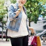 Woman Shopping Spending Customer Consumerism Concept. Woman Shopping Spending Customer Consumerism Stock Photos