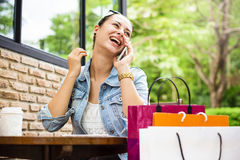 Woman Shopping Spending Customer Consumerism Concept Royalty Free Stock Photo