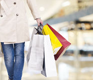 Woman on a shopping spree Royalty Free Stock Photos