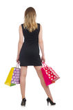 Woman after shopping spree Royalty Free Stock Photos