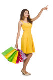 Woman after shopping spree Stock Image