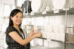 Woman shopping in store. Stock Images