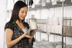 Woman shopping in store. Stock Image