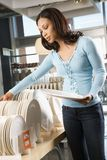 Woman shopping in store. Stock Photos