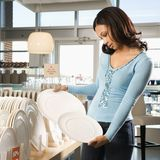 Woman shopping in store. Royalty Free Stock Photo