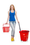Woman after shopping Stock Photography