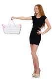Woman after shopping Stock Image