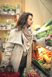 Woman shopping on a supermarket Stock Photography