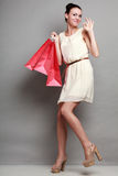 Woman shopping time, sale. Stock Image