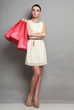 Woman shopping time, sale. Stock Images