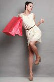 Woman shopping time, sale. Stock Photography