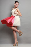 Woman shopping time, sale. Royalty Free Stock Photography