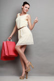 Woman shopping time, sale. Royalty Free Stock Image