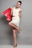 Woman shopping time, sale. Royalty Free Stock Photo