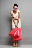 Woman shopping time. Stock Photos