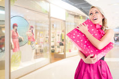 Woman at shopping Royalty Free Stock Photography