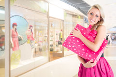 Woman at shopping Stock Image