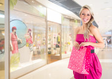 Woman at shopping Royalty Free Stock Image