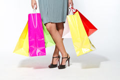 Woman with shoppingbag Royalty Free Stock Image