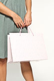 Woman with shoppingbag Royalty Free Stock Photos