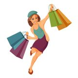 Woman is shoppung Royalty Free Stock Photography