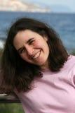 Woman on the shore Stock Photos