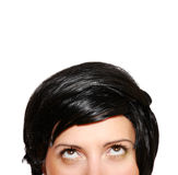 Woman in short black hair Royalty Free Stock Image