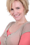 Woman with short blonde hair Royalty Free Stock Photo