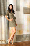 Woman in a Short Dress and High Heels Royalty Free Stock Image