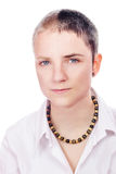Woman with short hair Stock Images
