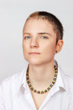 Woman with short hair Royalty Free Stock Images