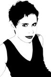 Woman with short hair: Vector Stock Image
