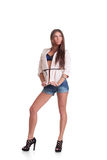 Woman in shorts Royalty Free Stock Images