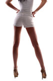 A woman in shorts Stock Images