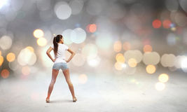 Woman in shorts Royalty Free Stock Photography
