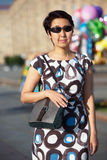 Woman with Shoulder Bag Stock Images