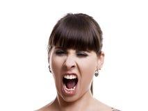 Woman shouting Stock Image