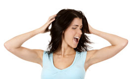 Woman shouting Stock Photography