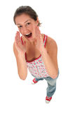 Woman Shouting Stock Image