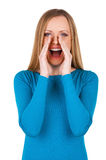 Woman shouting. Stock Photography