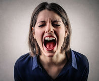 Woman shouting Royalty Free Stock Photography