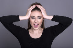 Woman shouting Royalty Free Stock Images