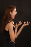 Woman shouts Royalty Free Stock Image