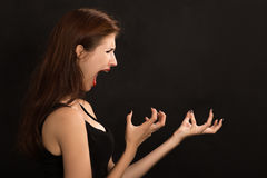 Woman shouts Royalty Free Stock Photography